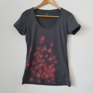 Icebreaker Gray Merino Wool T shirt, Small
